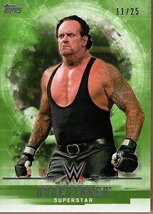 2017 Topps WWE Undisputed Undertaker Green Parallel Base Card #11/25
