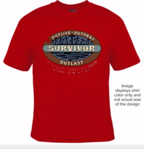 Big and Tall T-Shirt Religious Survivor 5XLT 6XLT 7XLT