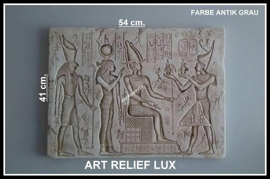 Gran Faraón ozyrys egipcia bajorrelieve relief viajes escultura muro Relief