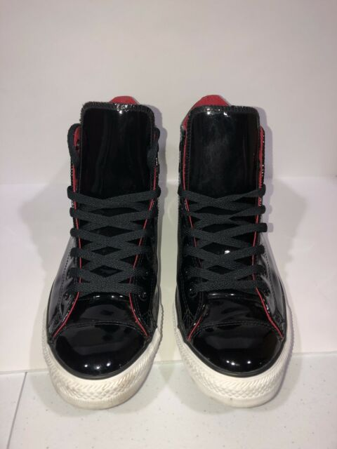 CONVERSE chuck taylor ALL STAR mens 11,5patent LEATHER high top LIMITED EDITION