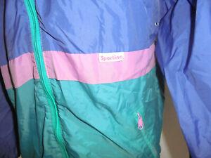 vintage-Sportino-Nylon-Regenjacke-glanz-80s-oldschool-Jacke-80er-Jahre-S-M