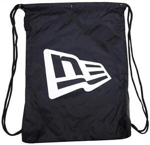 Image Is Loading New Era Branded Gym Sack Black White Osfa