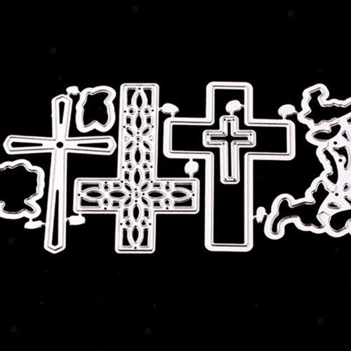 Cortador de álbum de Cruz Corte muere Stencil Grabado de Tarjetas de papel de Scrapbook
