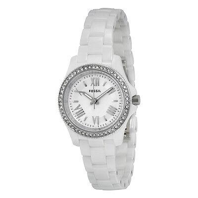 Fossil Cecile White Dial White Ceramic Ladies Quartz Watch CE1085