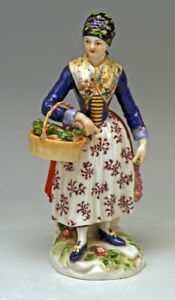 MEISSEN-FIGUR-DANISCHE-BAUERIN-DANISH-COUNTRYWOMAN-FARMER-039-S-WIFE-NR-E11-UM1850