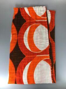 60er-70er-Jahre-Vorhang-Gardine-Stoff-Space-Age-Design-Mid-Century-60s-70s