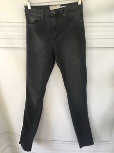 751f822b8ba1 Free People Hi Rise Skinny Jeans in Faded Black Sz 26   eBay
