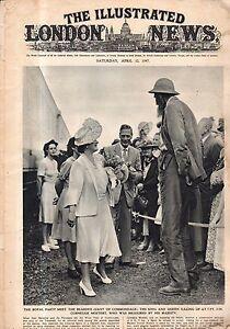1947 London News April 12 - Williamsburg VA restoration; Mountbatten in India