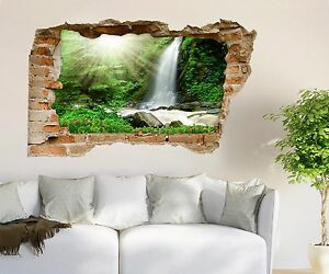 3D Waterfall 209 Wall Murals Wall Stickers Decal breakthrough AJ