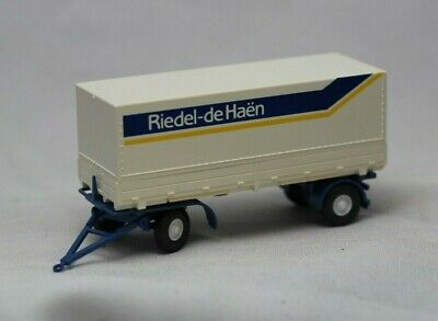Wiking NEW HO 1//87 Scale 2-axle Trailer with Row Boat in Green /& Black