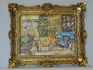 Beautiful-Painting-Pictures-Baroque-Antique-Repro-Frame-Cafe-56x46-cm-NEW-106