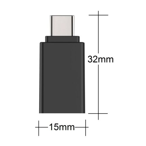 3x OTG silver USB Adapter Type C to USB 3.0 Adapter for MacBook-Pro Note8 LG G6