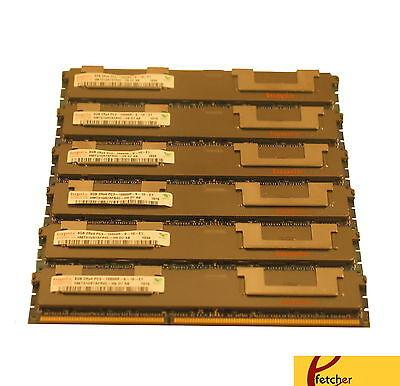 48GB(6X8GB) Memory DDR3 PC3-10600 ECC REG Compat to Dell A3078601 SNPX3R5MC/8G