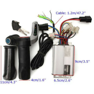 DC-48V-1000W-Electric-Bike-Motor-Scooter-Speed-Controller-amp-Throttle-Grips-Kit