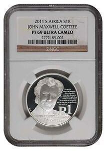 South-Africa-2011-Silver-R1-J-M-COETZEE-Proof-NGC-PF-69-Ultra-Cameo-Coin