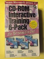 Microsoft Office 95 Training 6-pack (brand New) (win 3.1/95/nt) Free Shipping