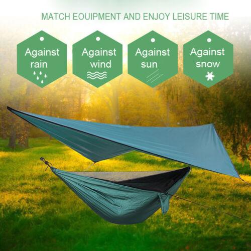 Outdoor Square Diamond Hammock Sunshade Waterproof Camping Fly Tent Tarp Canopy