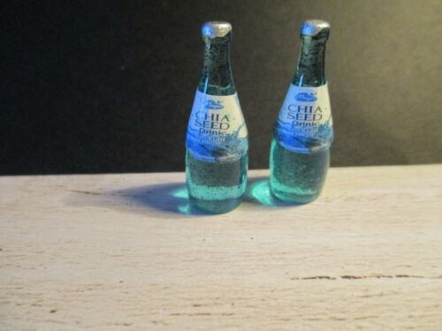 DOLLS HOUSE MINIATURE SOFT DRINK WITH CHIA SEEDS DD