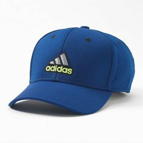 Blue Adidas Closer Stretch Sporty Baseball Fitted Hat Cap Color