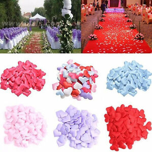 Decoration DIY Wedding Party Love Heart Throwing Rose Petals Padded Fabric