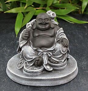 bouddha figurine porte bonheur statuette d coration de jardin figure pierre ebay. Black Bedroom Furniture Sets. Home Design Ideas