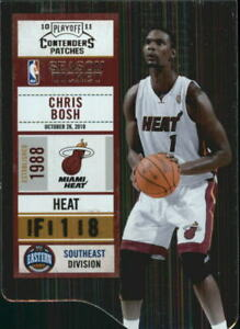 2010-11-Playoff-Contenders-Patches-Die-Cuts-Silver-92-Chris-Bosh-299-NM-MT