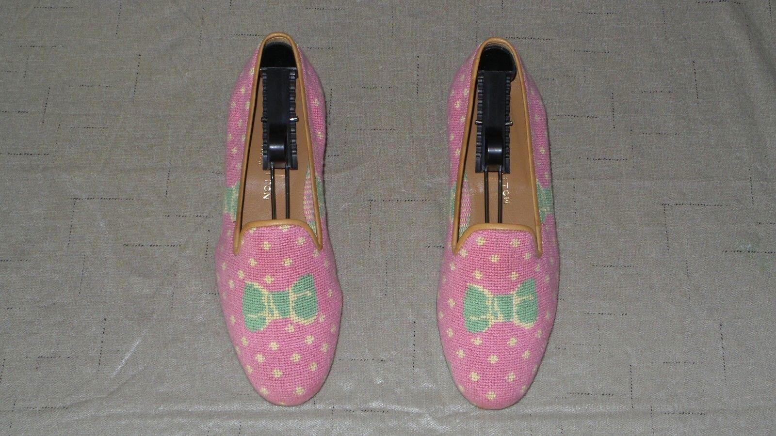 Lindo  Mujer  450 Stubbs and wootton Bordado Bordado Bordado  dotado  Zapatillas Mocasines Zapato  el mejor servicio post-venta