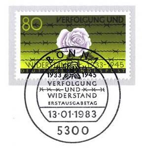 BRD-1983-Verfolgung-und-Widerstand-1933-1945-Nummer-1163-Bonner-Stempel-1A