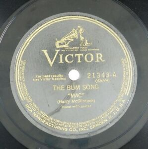 MAC-HARRY-McCORMICK-Bum-Song-HallelujaH-I-039-m-A-Bum-10IN-1928-HILLBILLY-LISTEN