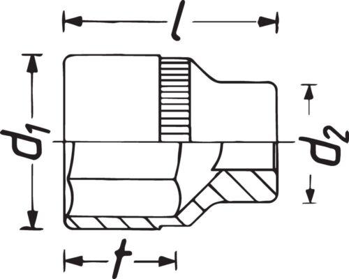 HAZET Steckschlüssel-Einsatz 10mm 3//8 Zoll Tractionsprofil 880AZ-15//16