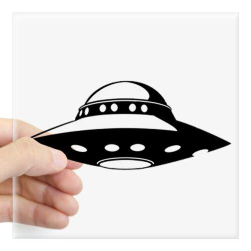 """3/""""x3/"""" or 5/""""x5/"""" 674551361 CafePress UFO Square Bumper Sticker Car Decal"""