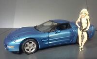 1999 Corvette Hardtop Nassua Blue B11zd51 Franklin Mint Diecast 1:24