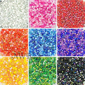 50g-Glass-Seed-Beads-9-Mixed-Colour-Shades-amp-Types-2mm-3mm-or-4mm-UK-Stock