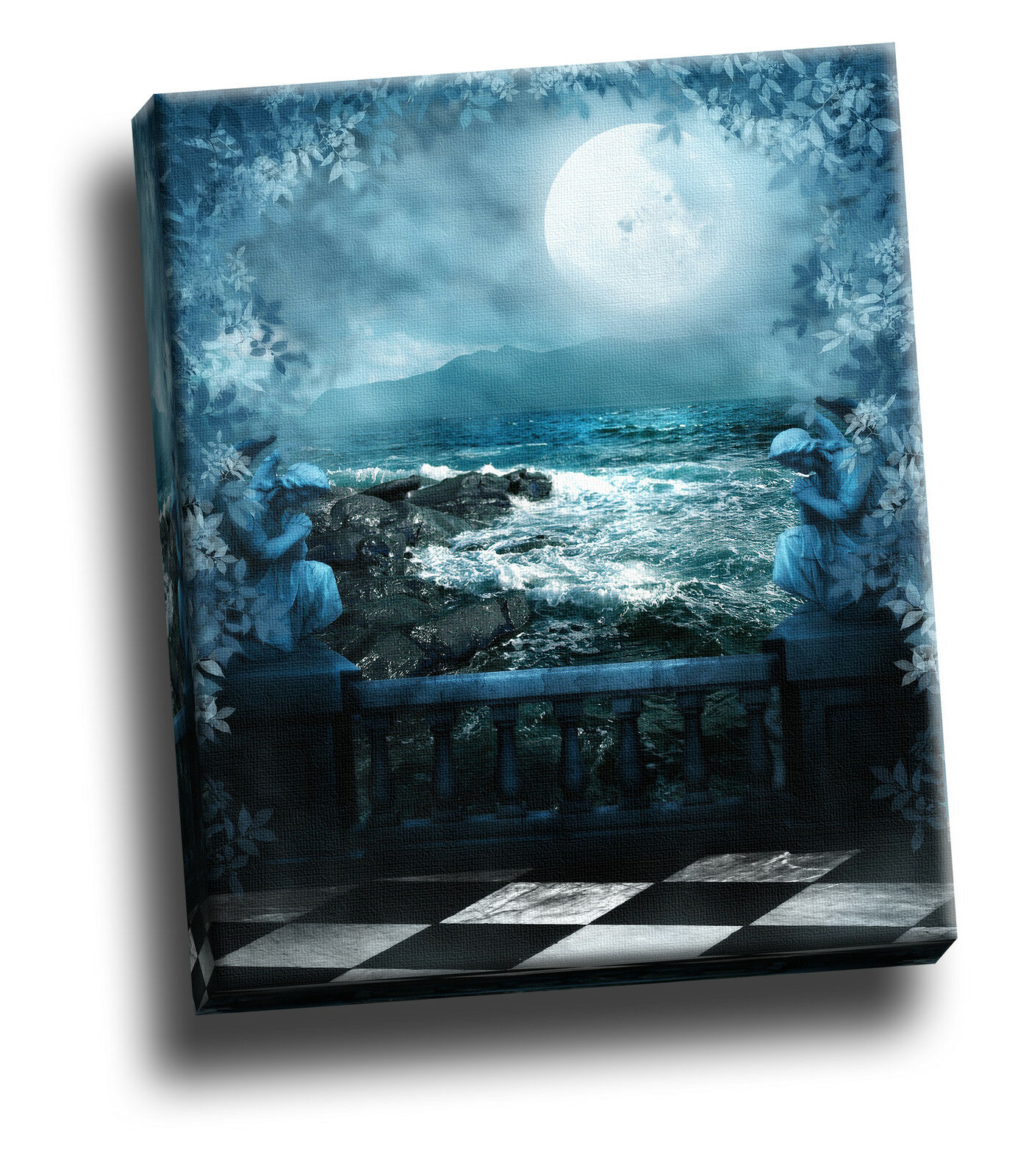 Dark Waters Rapids Gothic Giclee Canvas Wall Decoration Picture