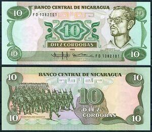 NICARAGUA-10-Cordobas-1985-Pick-151-SC-UNC