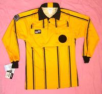 Referee Official U.s. Fed Soccer Futbol Long Sleeve Uniform Shirt Gold Large