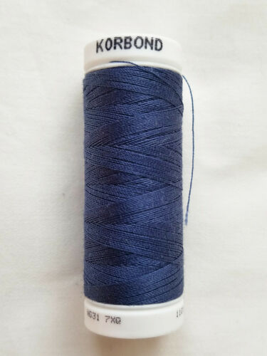 100/% polyester professionnel 100 M Filetage Korbond 110876 bleu marine Bleu Jean