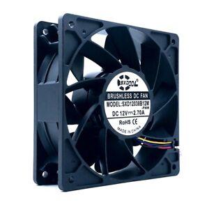 120mm High Speed CFM Miner Mining PWM Cooling Fan 6000RPM,120X120X38mm DC12V