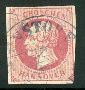 Germany-1859-Hannover-1gr-Rose-SG-23-VFU-F894