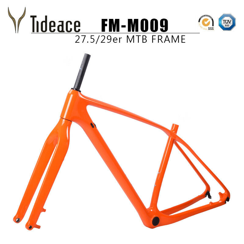 Cycling 29er Mountain Bike Frame Celeste Orange MTB Bicycle Frame T800 12142