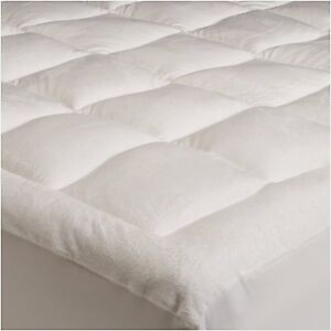mattress pad king size microplush topper pillow top bed cover comforter bedding ebay. Black Bedroom Furniture Sets. Home Design Ideas
