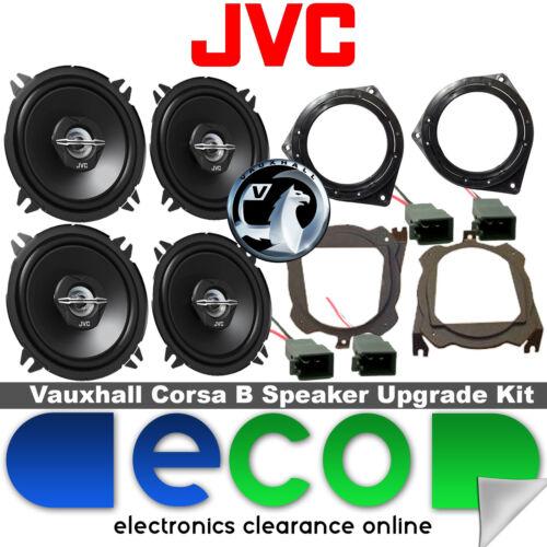 Opel Corsa B 93-00 Jvc 1000 Watts De Puerta Frontal Y Trasero Hatch altavoz para automóvil Kit