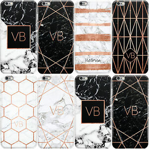 DYEFOR-ROSE-GOLD-GEOMETRIC-MARBLE-WITH-INITIALS-HARD-CASE-COVER-FOR-APPLE-IPHONE