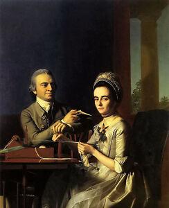 Oil painting john singleton copley - mr. and mrs thomas mifflin (sarah morris)