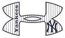 Under Armour New York Yankees Baseball Truck/Window Decal Sticker - Set of 3