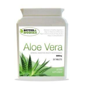 ALOE-Vera-SUPER-ad-alta-resistenza-6000mg-Colon-Cleanse-BOTTIGLIE-da-30-Compresse