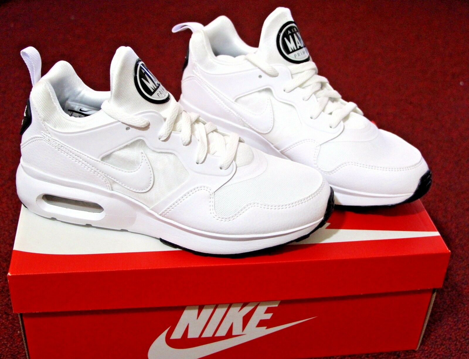 f7b99c060f893 NIB Men Men Men Nike Air Max Prime Shoe Sneaker 11.5 White 876068-100  Fashion Casual New 96335e