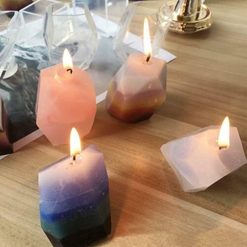 Gem Stone Crystal Mold Silicone Candle Molds 3 Shapes Large Size Resin Stone...