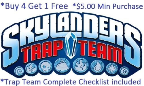 *Skylanders Trap Team Complete Your Set with Checklist* Wii U PS4 Xbox 360 One
