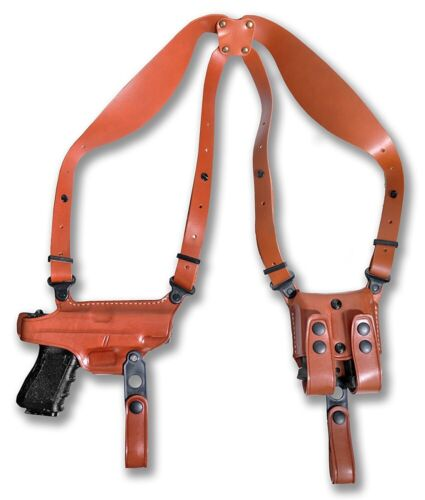"""Shoulder Holster Double Mag Case Fits Kimber Ultra Crimson Carry II 45 ACP 3/""""BBL"""